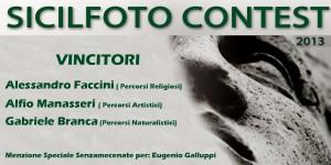 Vincitori del Sicilfoto contest 2013