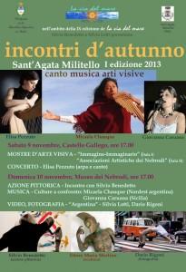Incontri d'autunno - 1a edizione 2013 - S. Agata Militello