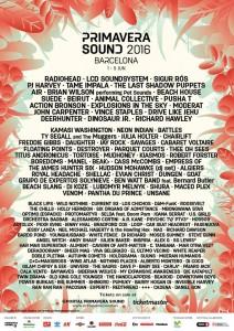 Primavera Sound 2016 - Programma