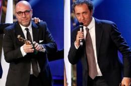 Paolo Virzì e Paolo Sorrentino ai David di Donatello 2014